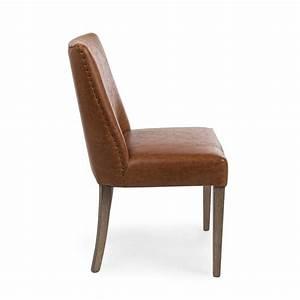 Chaise Bois Vintage : tebe vintage chaise vintage en bois et en similicuir marron sediarreda ~ Teatrodelosmanantiales.com Idées de Décoration