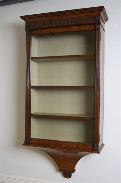 cabinet hanging shelf edwardian wall hanging display cabinet 139054