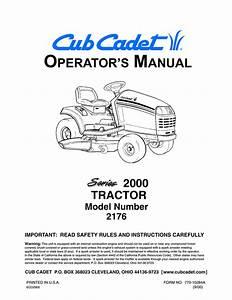 Cub Cadet 2176 Lawn Mower User Manual