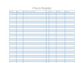 Printable Check Register Template