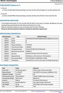 Minew Technologies I7 Digital Broadcasting Device  Ibeacon