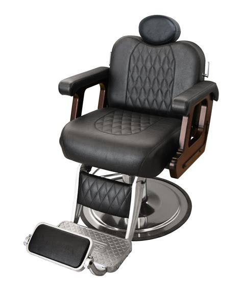 collins b60 commander supreme barber chair w calf pad legrest
