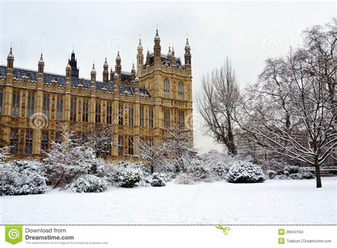 chambre du parlement chambre du parlement et de neige londres images stock