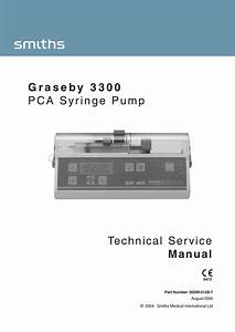 Technical Service Manual Graseby 3300 Pca Syringe Pump