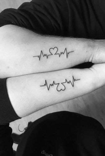 Two Of Hearts - Mother Daughter Heart Tattoos - Mother