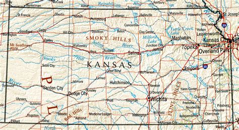 maps  kansas list  towns counties points
