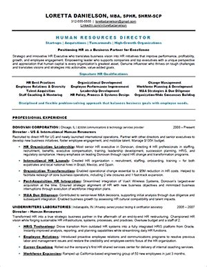 Hr Resume Sle Uk by Hr Resume Sle