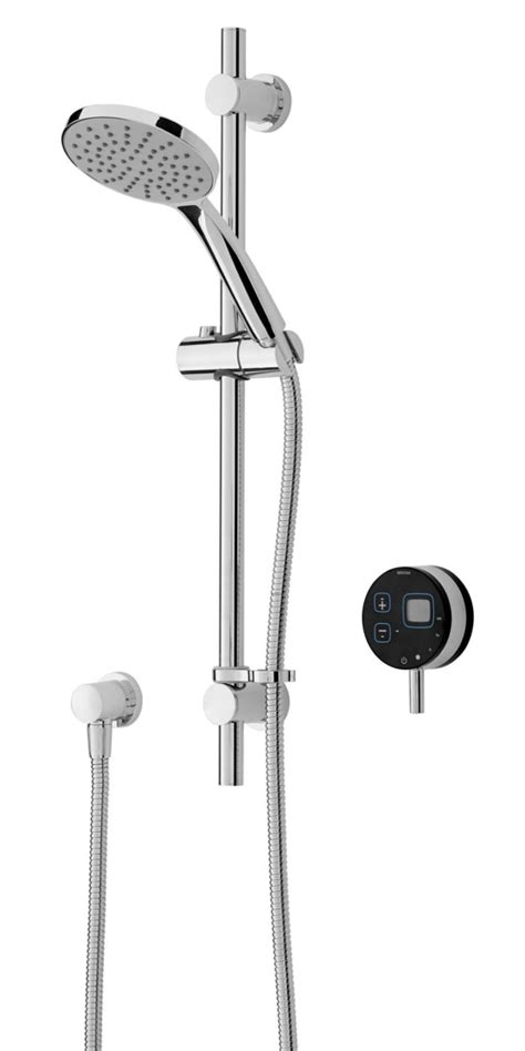 Electric Mixer Shower by Bristan Artisan Digital Electric Mixer Shower With Riser Black