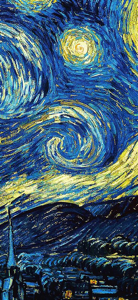 ar vicent van gogh starry night art classic wallpaper