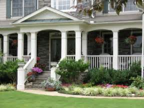 landscaping ideas in front of porch closer up of the porch love the big columns and the way it s arched between the columns