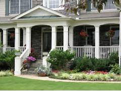 Front Porch Landscaping Ideas Photos by Closer Up Of The Porch Love The Big Columns And The Way It 39 S Arched Be