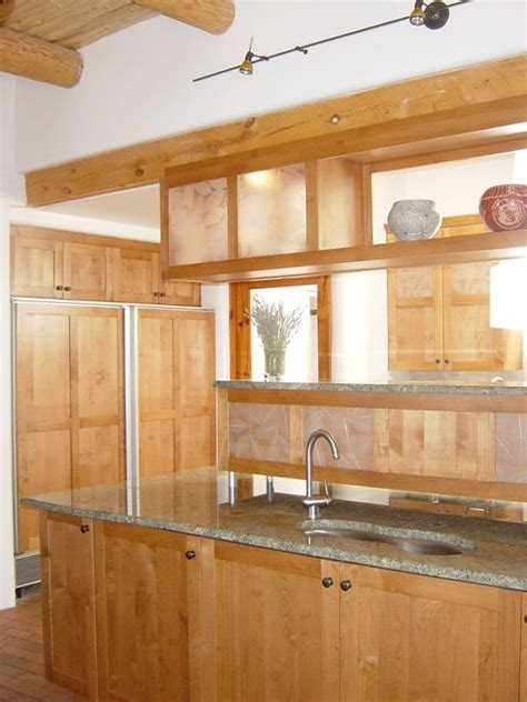 Contemporary Kitchen Redesign Using Alder And 3 Form
