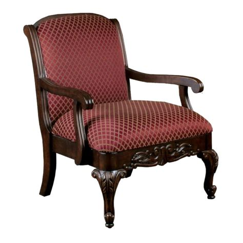 furniture brown wooden chair with arm and marron