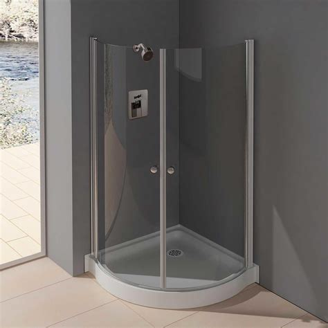 Small Shower Enclosures by 36 Quot X 36 Quot Belem Corner Shower Enclosure With Hinged Doors