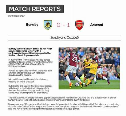 Football Match Report Example Reports Sport Commentary
