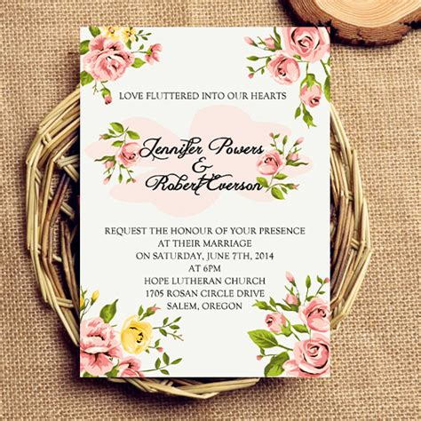 flower wedding invitations inexpensive coral floral wedding invitations ewi342 as low as 0 94