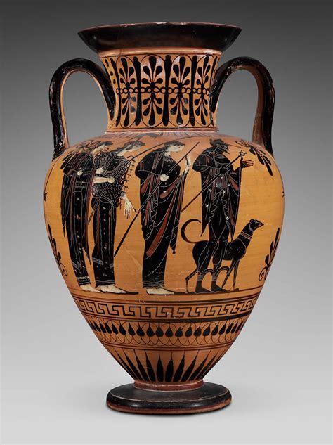 handled jar amphora depicting  judgment  paris