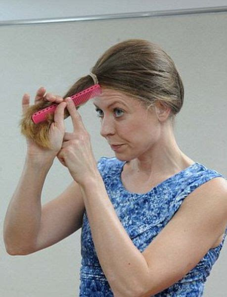 hairdresser s tip for a diy haircut 7