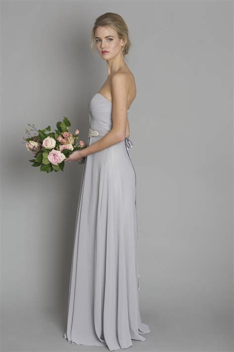 light gray bridesmaid dress light grey style dc1184 bridesmaid evening debs