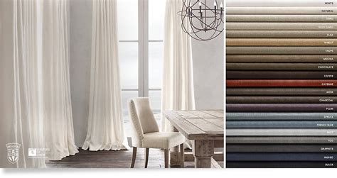 restoration hardware curtains drapery collections rh
