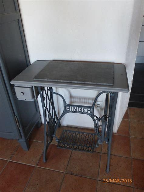 bureau ecolier vintage rénovation table ancienne machine singer lili fabric bzh