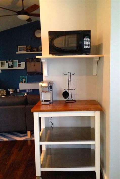 stunning white wooden floating microwave shelf  small butcher block island  corner