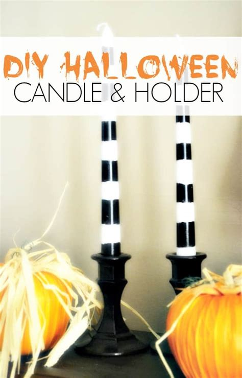 dollar store crafting diy halloween candles holders