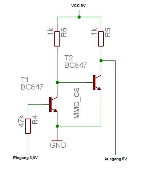 level shifter gesucht mikrocontrollernet