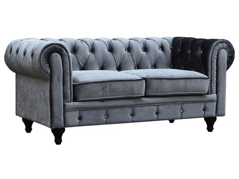 canapé chesterfield canape chesterfield velours