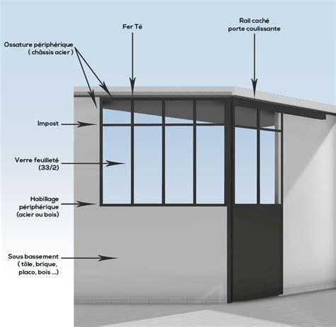 verriere coulissante pour cuisine verrière d 39 intérieur en acier mecametal
