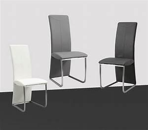 Chaise Salle A Manger Noir : chaise de salle a manger grise et blanc ~ Teatrodelosmanantiales.com Idées de Décoration
