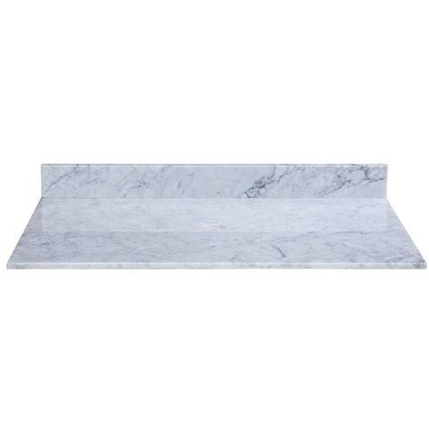 vanity top no sink ryvyr 49 in marble vanity top in carrara white without