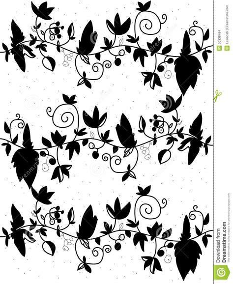 zwart witte bloemen vector illustratie illustratie bestaande uit bloemen