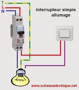 Schema Electrique Va Et Vient 3 Interrupteurs : sch ma lectrique interrupteur simple allumage branchement et c blage interrupteur simple ~ Medecine-chirurgie-esthetiques.com Avis de Voitures