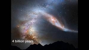 Crash der Titanen: Milchstraße und Andromeda-Galaxie - YouTube