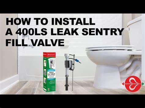 toilet  leaking install  fluidmaster ls leak sentry