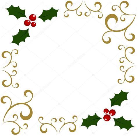 Cornici Vettoriali Free Cornice Natale Agrifoglio Vettoriali Stock