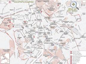rome maps top tourist attractions free printable city map