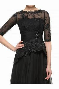 Options Light Chocolate Long Black 3 4 Length Sleeves Lace Chiffon Mother Of The