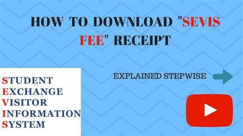 how to sevis i 901 fee receipt