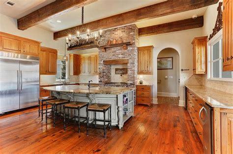 brick kitchen design ideas tile backsplash accent