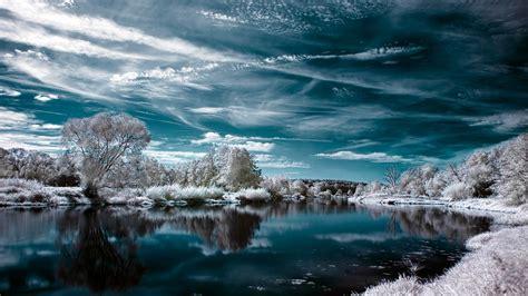 herunterladen  full hd hintergrundbilder winter  reflexion himmel frost p