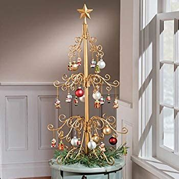 metal christmas tree ornament holders 36 inch metal ornament tree gold home kitchen