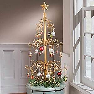 Amazon 36 Inch Metal Ornament Christmas Tree Gold