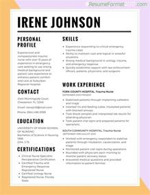 Best Resume Style For Nurses by Best Resume Template 2017 Resume Builder