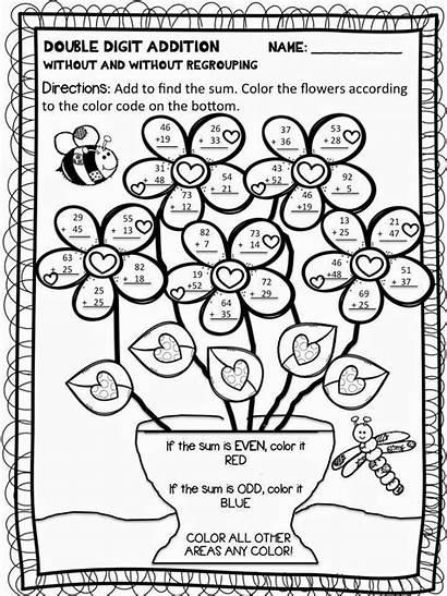 Subtraction Addition Coloring Worksheets Digit Worksheet