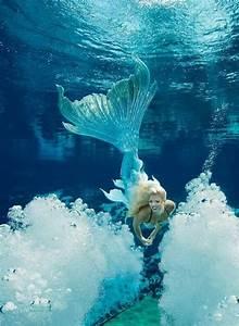 A Weeki Wachee Mermaid Wearing A Gorgeous Merbella Studios