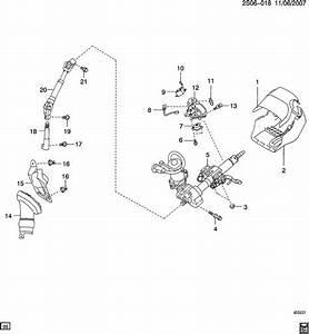 2009 Pontiac Vibe Shaft  Steering Column Intermediate