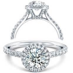 engagement rings halo v split prong halo engagement ring