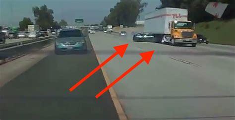 car  spun  big rig  dramatic hit  run